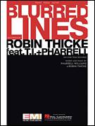 Cover icon of Blurred Lines sheet music for voice, piano or guitar by Robin Thicke and Pharrell Williams, intermediate skill level