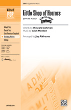 Cover icon of Little Shop Of Horrors (from Little Shop of Horrors) (arr. Mark Brymer) sheet music for choir (SAB: soprano, alto, bass) by Alan Menken, Howard Ashman and Mark Brymer, intermediate skill level
