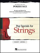Cover icon of Poker Face (COMPLETE) sheet music for orchestra by Glee Cast, Lady Gaga, RedOne and Robert Longfield, intermediate skill level
