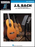 Cover icon of Bourree In E Minor sheet music for guitar ensemble by Johann Sebastian Bach, classical score, intermediate skill level