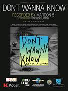 Cover icon of Don't Wanna Know sheet music for voice, piano or guitar by Maroon 5, Adam Levine, Alexander Ben-Abdallah, Ammar Malik, Benjamin Levin, Jacob Kasher Hindlin, John Henry Ryan, Jon Mills and Kurtis McKenzie, intermediate skill level