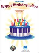 Cover icon of Happy Birthday To You sheet music for piano solo (big note book) by Mildred J. Hill and Patty Smith Hill, easy piano (big note book)