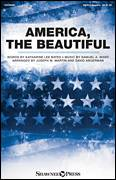 Cover icon of America, The Beautiful sheet music for choir (SATB: soprano, alto, tenor, bass) by Samuel Augustus Ward, David Angerman, Joseph M. Martin and Katherine Lee Bates, intermediate skill level