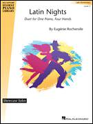 Cover icon of Latin Nights sheet music for piano four hands by Eugenie Rocherolle, intermediate skill level