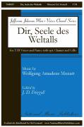 Cover icon of Dir, Seele Des Weltalls sheet music for choir (TTB: tenor, bass) by Wolfgang Amadeus Mozart and J.D. Frizzell, intermediate skill level