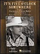 Cover icon of It's Five O'Clock Somewhere sheet music for voice, piano or guitar by Alan Jackson, Jimmy Buffett, Don Rollins and Jim Brown, intermediate skill level