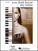 Cover icon of You Don't Know My Name sheet music for piano solo by Alicia Keys, Harold Spencer Lilly and Kanye West, easy skill level