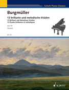 Cover icon of Ecstasy, Op. 105 No. 8 sheet music for piano solo by Friedrich Johann Franz Burgmuller, classical score, intermediate/advanced skill level