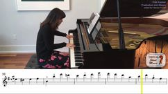 Praeludium and Allegro, piano accompaniment video accompaniment video