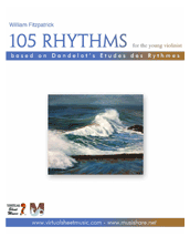 Cover icon of 105 Rhythms for the Young Violinist sheet music for violin by William Fitzpatrick, classical score, easy/intermediate skill level