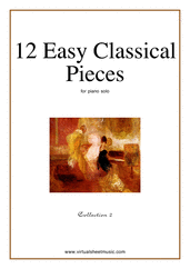 Cover icon of 12 Easy Classical Pieces (coll.2) sheet music for piano solo, classical score, easy skill level
