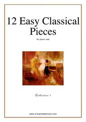 Cover icon of 12 Easy Classical Pieces (coll.3) sheet music for piano solo, classical score, easy skill level