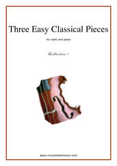 Cover icon of Three Easy Pieces (coll.1) sheet music for violin and piano, classical score, easy/intermediate skill level