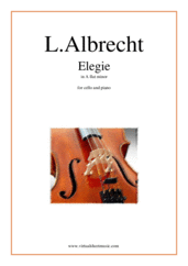 Cover icon of Elegie in Ab minor sheet music for cello and piano by Ludwig Albrecht, classical score, intermediate/advanced skill level