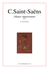 Cover icon of Allegro Appassionato Op.43 sheet music for cello and piano by Camille Saint-Saens, classical score, advanced skill level