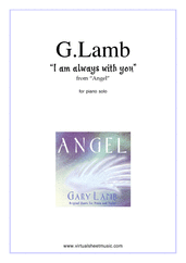 Cover icon of I Am Always With You sheet music for piano solo by Gary Lamb, easy skill level