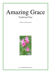 Cover icon of Amazing Grace sheet music for flute, violin and cello, easy/intermediate skill level