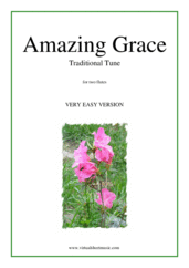 Cover icon of Amazing Grace (for beginners) sheet music for two flutes, beginner duet