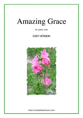 Cover icon of Amazing Grace (easy version) sheet music for piano solo, easy skill level