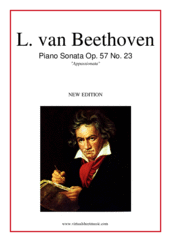 "Cover icon of Sonata Op.57 ""Appassionata"" sheet music for piano solo by Ludwig van Beethoven, classical score, advanced skill level"
