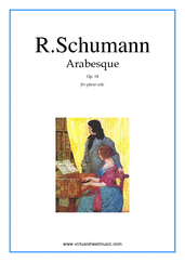 Cover icon of Arabesque, Op.18 sheet music for piano solo by Robert Schumann, classical score, intermediate skill level