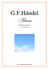 Cover icon of Arioso - Dank sei dir, Herr sheet music for voice and piano by George Frideric Handel, classical wedding score, easy skill level