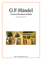 Cover icon of Arrival of the Queen of Sheba sheet music for piano solo by George Frideric Handel, classical wedding score, easy/intermediate skill level