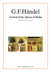 Cover icon of Arrival of the Queen of Sheba sheet music for string quartet by George Frideric Handel, classical wedding score, easy/intermediate skill level