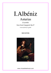 Asturias (Leyenda) for guitar solo - advanced guitar sheet music