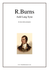 Cover icon of Auld Lang Syne sheet music for two violins and piano by Robert Burns, classical score, easy/intermediate duet