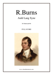 Cover icon of Auld Lang Syne (f.score) sheet music for brass quintet by Robert Burns, classical score, intermediate skill level
