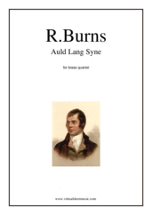 Cover icon of Auld Lang Syne sheet music for brass quartet by Robert Burns, classical score, intermediate skill level