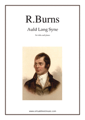 Cover icon of Auld Lang Syne sheet music for tuba and piano by Robert Burns, classical score, easy/intermediate skill level