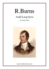 Cover icon of Auld Lang Syne sheet music for viola and piano by Robert Burns, classical score, easy/intermediate skill level