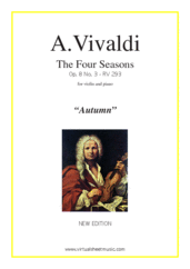 "Cover icon of Concerto ""Autumn"" (NEW EDITION) sheet music for violin and piano by Antonio Vivaldi, classical score, advanced skill level"