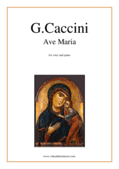Cover icon of Ave Maria sheet music for voice and piano by Giulio Caccini, classical wedding score, easy/intermediate skill level