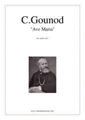 Ave Maria for guitar solo - easy guitar sheet music