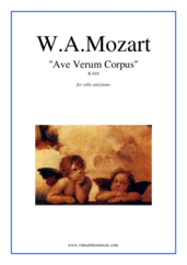 Cover icon of Ave Verum Corpus sheet music for cello and piano by Wolfgang Amadeus Mozart, classical score, easy/intermediate skill level