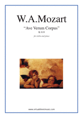 Cover icon of Ave Verum Corpus sheet music for violin and piano by Wolfgang Amadeus Mozart, classical score, easy/intermediate skill level