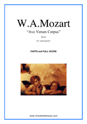 Ave Verum Corpus for wind quintet - classical wind quintet sheet music