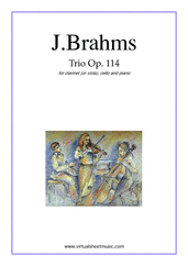Cover icon of Trio Op.114 sheet music for clarinet (viola), cello and piano by Johannes Brahms, classical score, intermediate/advanced skill level