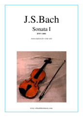 Cover icon of Sonata No.1 sheet music for viola solo by Johann Sebastian Bach, classical score, advanced skill level