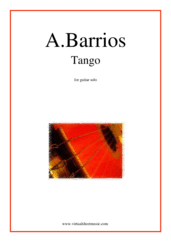 Cover icon of Tango sheet music for guitar solo by Agustin Barrios, classical score, advanced skill level