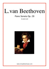 "Cover icon of Sonata Op.28 ""Pastorale"" sheet music for piano solo by Ludwig van Beethoven, classical score, intermediate/advanced skill level"