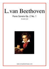 Cover icon of Sonata Op.2 No.1 sheet music for piano solo by Ludwig van Beethoven, classical score, intermediate/advanced skill level