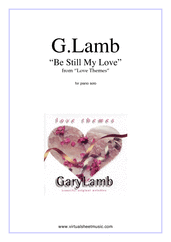 Cover icon of Be Still My Love sheet music for piano solo by Gary Lamb, easy/intermediate skill level