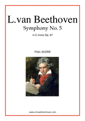 Cover icon of Symphony No.5 in C minor Op.67 (f.score) sheet music for orchestra by Ludwig van Beethoven, classical score, advanced skill level