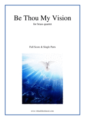 Cover icon of Be Thou My Vision sheet music for brass quartet, intermediate skill level