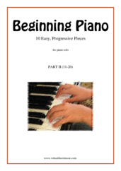 Cover icon of Beginning Piano, part II sheet music for piano solo, classical score, beginner skill level