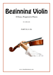 Cover icon of Beginning Violin, part II sheet music for violin solo, classical score, beginner skill level